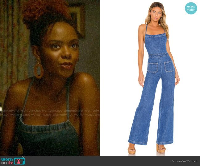 Stoned Immaculate Jean Genie Jumpsuit worn by Josie McCoy (Ashleigh Murray) on Katy Keene