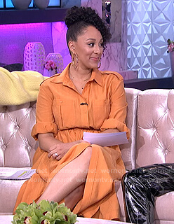 Tamra's orange shirtdress on The Real