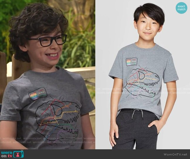 Graphic T-Shirt by Cat & Jack at Target worn by Matteo Silva (Raphael Alejandro) on Bunkd