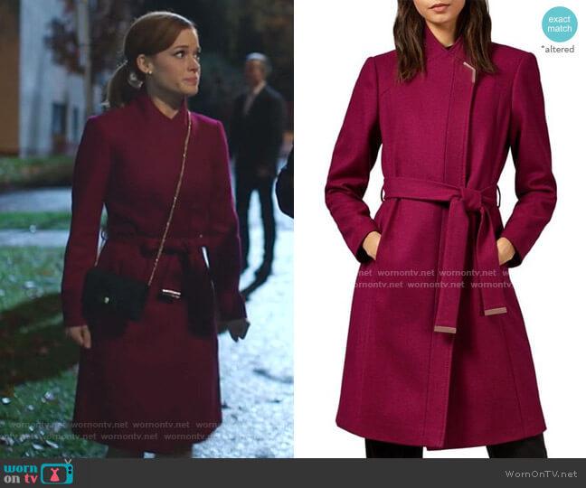 Ellgenic Long Belted Coat by Ted Baker worn by Zoey Clarke (Jane Levy) on Zoeys Extraordinary Playlist