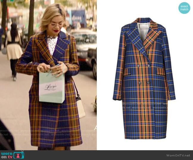 Tela Plaid Coat worn by Pepper Smith (Julia Chan) on Katy Keene