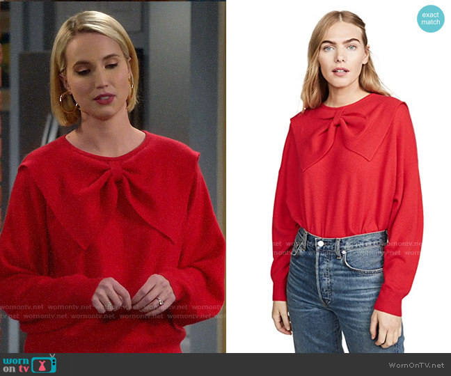 The Great The Cashmere Bow Sweater worn by Mandy Baxter (Molly McCook) on Last Man Standing