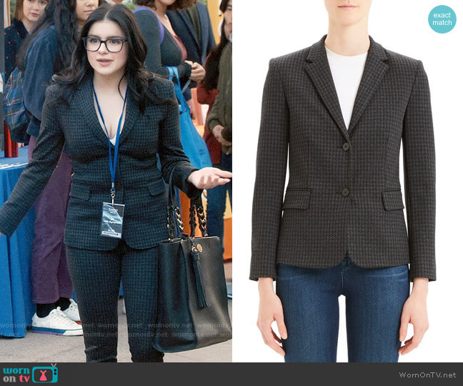 Theory Houndstooth Shrunken Two-Button Jacket worn by Alex Dunphy (Ariel Winter) on Modern Family