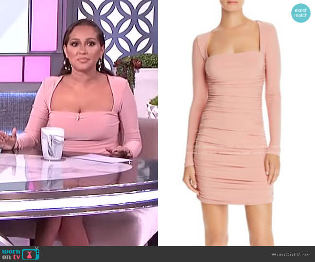 Tully Long Sleeve Minidress by Tiger Mist worn by Adrienne Houghton  on The Real