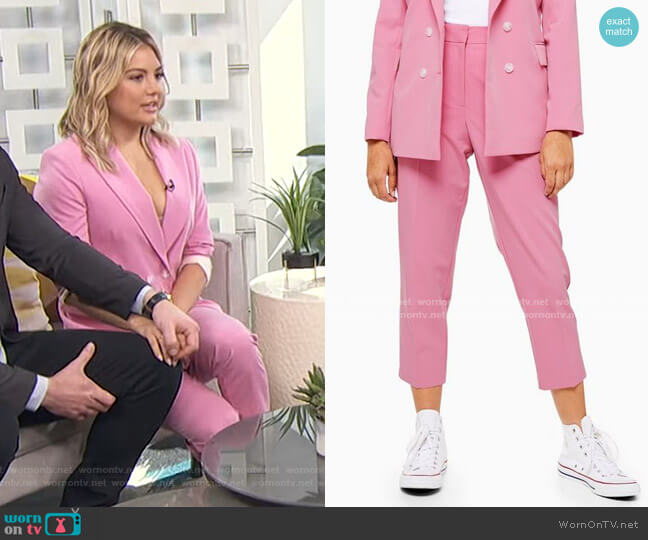 Suit Trousers by Topshop  worn by Giannina Gibelli on E! News Daily Pop