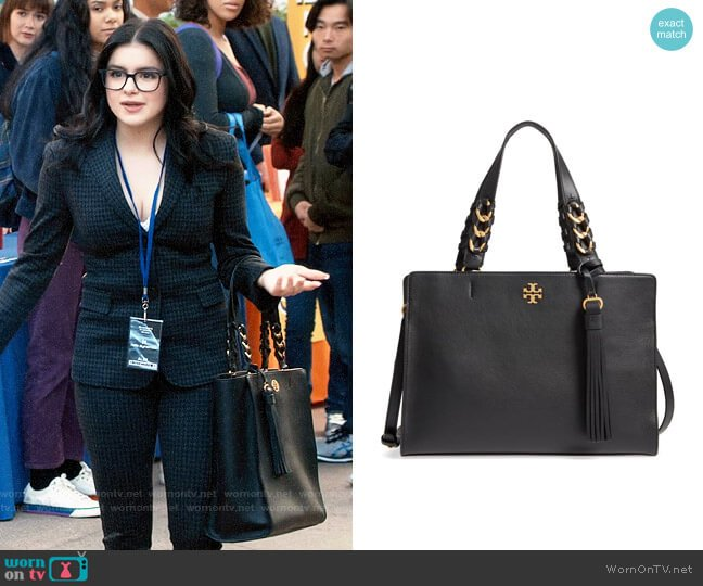 Tory Burch Brooke Leather Satchel worn by Alex Dunphy (Ariel Winter) on Modern Family