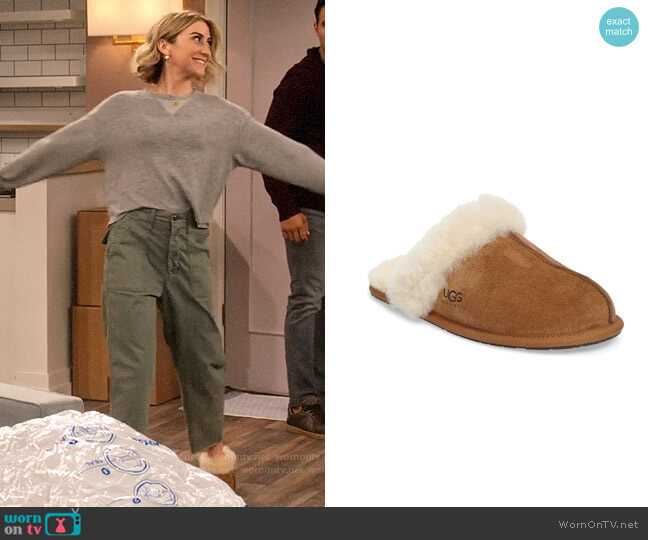 Ugg Scuffette II Slipper worn by Ava Germaine (Chelsea Kane) on The Expanding Universe of Ashley Garcia