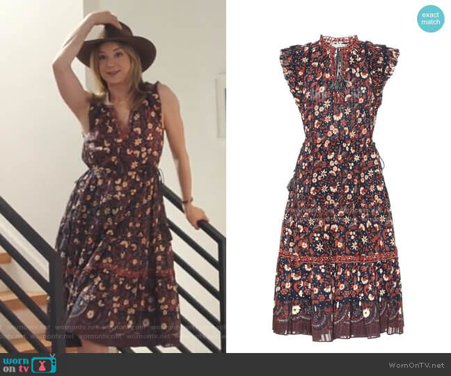 Prunella Floral Cotton Midi Dress by Ulla Johnson worn by Nicolette Nevin (Emily VanCamp) on The Resident