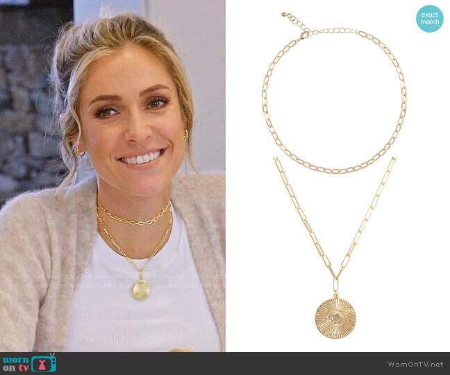 Uncommon James Choker Link and Medallion Necklaces worn by Kristin Cavallari  on Very Cavallari