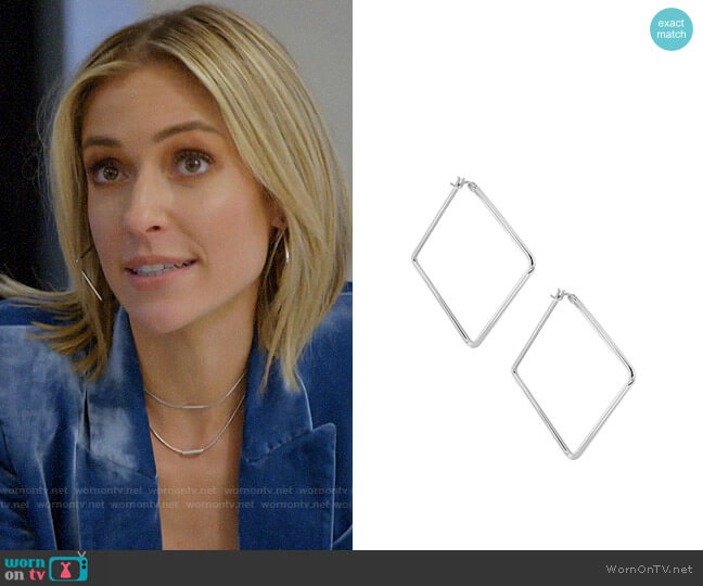 Uncommon James Silver Medium Girl Boss Hoops worn by Kristin Cavallari  on Very Cavallari