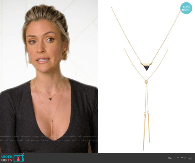 Uncommon James Stormy and Central Park Necklaces worn by Kristin Cavallari  on Very Cavallari
