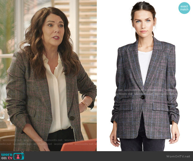Martel Dickey Jacket by Veronica Beard worn by Joan (Lauren Graham) on Zoeys Extraordinary Playlist