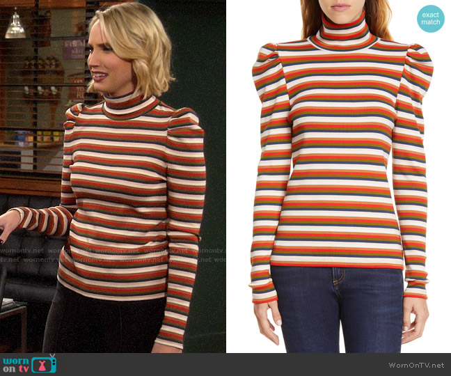 Veronica Beard Cedar Turtleneck worn by Mandy Baxter (Molly McCook) on Last Man Standing