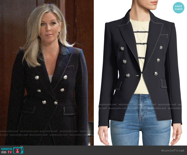 Veronica Beard Miller Blazer worn by Carly Corinthos (Laura Wright) on General Hospital