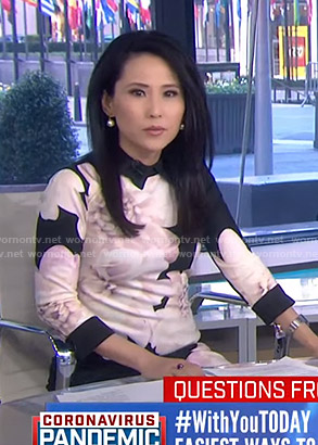 Vicky Nguyen's black floral dress on Today