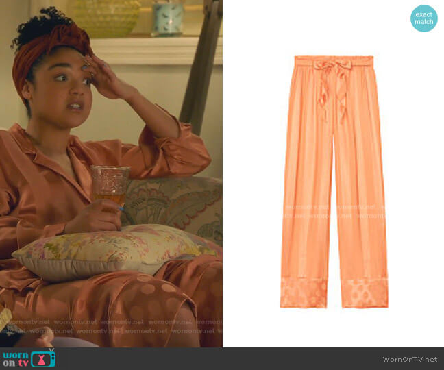 Striped Satin Pant by Victoria's Secret worn by Kat Edison (Aisha Dee) on The Bold Type