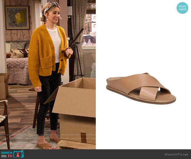 Vince Fairley Slides worn by Ava Germaine (Chelsea Kane) on The Expanding Universe of Ashley Garcia