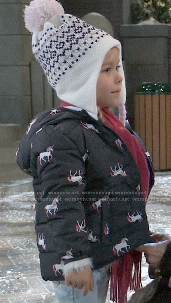Violet's unicorn puffer jacket on General Hospital