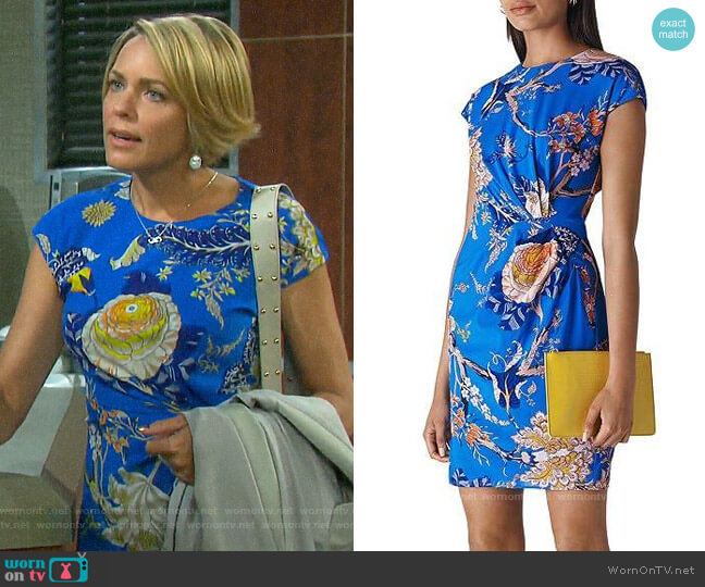 Whistles Exotic Floral Silk Blend Dress worn by Nicole Walker (Arianne Zucker) on Days of our Lives