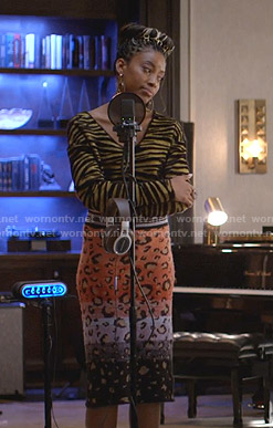 Cookie's metallic ribbed striped sweater on Empire