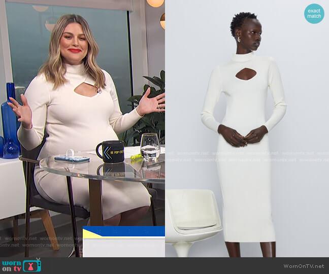 Cut Out Knit Dress by Zara worn by Carissa Loethen Culiner  on E! News