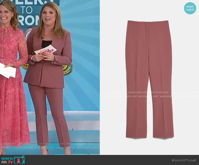 Mini Flare Pants by Zara worn by Jenna Bush Hager  on Today
