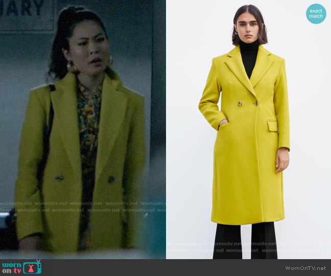 Zara Buttoned Menswear Coat worn by Mary Hamilton (Nicole Kang) on Batwoman