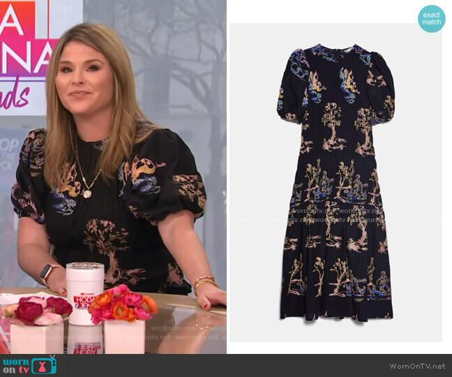 Embroidered Stretch Dress by Zara worn by Jenna Bush Hager  on Today