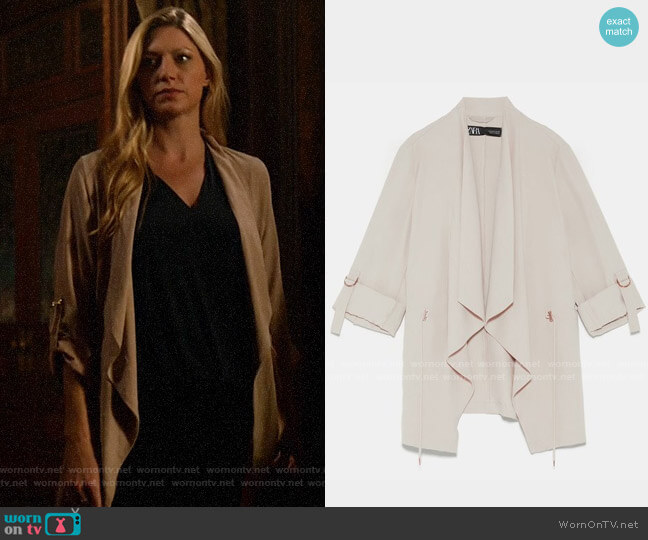 Zara Flowy Drawstring Jacket worn by Ava Sharpe (Jes Macallan) on Legends of Tomorrow