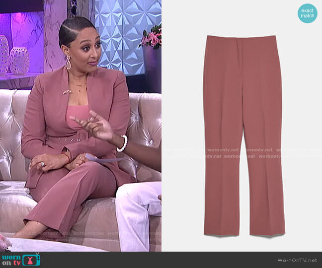 Mini Flare Pants by Zara worn by Tamera Mowry  on The Real