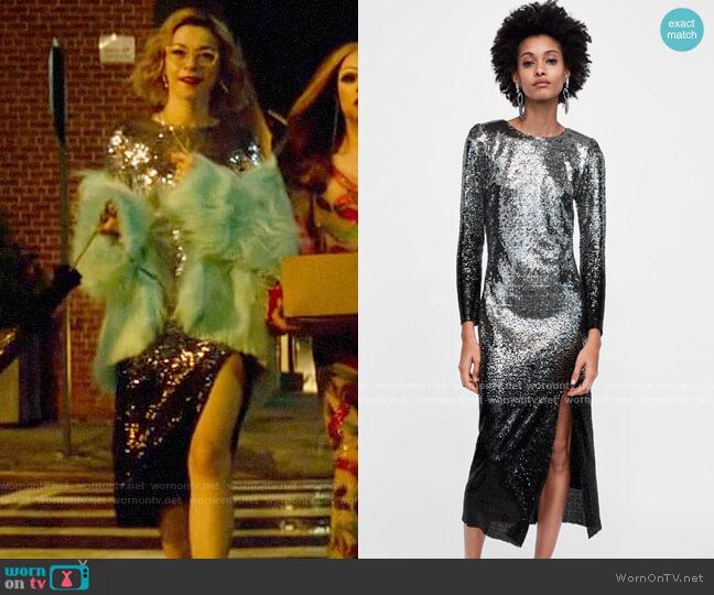 Zara Ombre Sequin Dress worn by Pepper Smith (Julia Chan) on Katy Keene