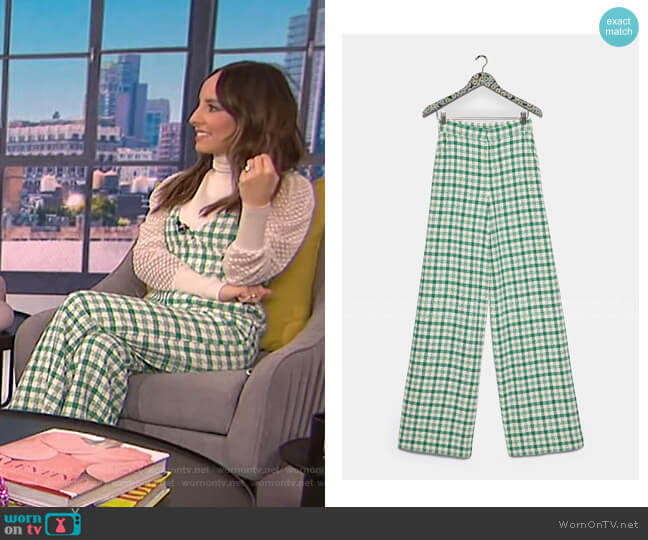 Plaid Tweed Pants by Zara worn by Lilliana Vazquez  on E! News