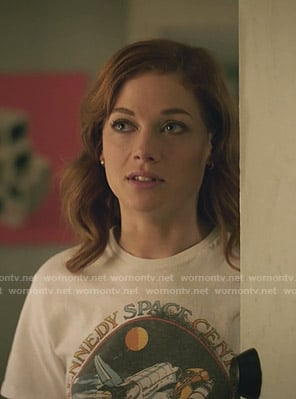 Zoey's Kennedy Space center NASA print tee on Zoeys Extraordinary Playlist