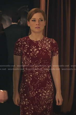 Zoey's red floral short sleeve dress on Zoeys Extraordinary Playlist