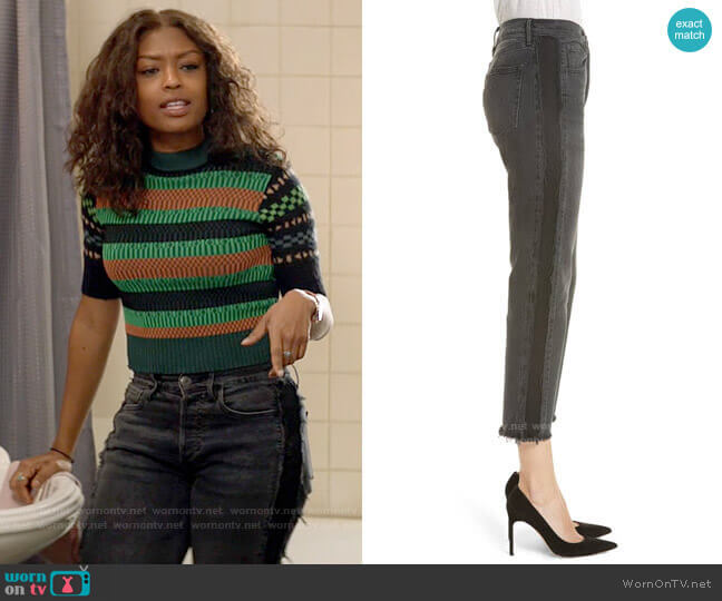 3x1 W3 Cora Side Fray Crop Straight Leg Jeans worn by Ali Finer (Javicia Leslie) on God Friended Me
