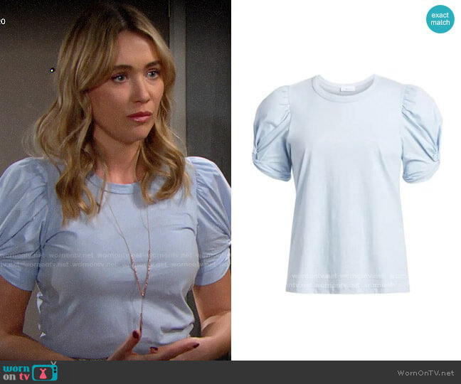 ALC Kati Tee in Wind worn by Florence (Katrina Bowden) on The Bold & the Beautiful