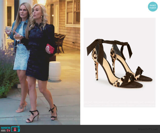 Clarita 100 Calf Hair Sandals by Alexandre Birman worn by Tinsley Mortimer  on The Real Housewives of New York City