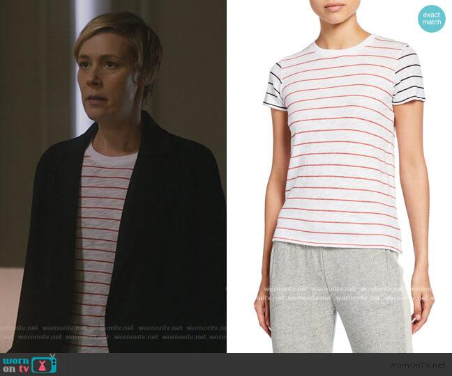 Striped Slub Jersey Short-Sleeve Cotton Tee by ATM Anthony Thomas Melillo worn by Bonnie Winterbottom (Liza Weil) on HTGAWM