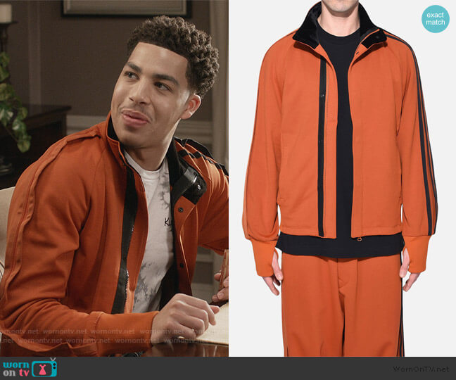 Y3 Selvedge Track Jacket by Adidas worn by Andre Johnson Jr (Marcus Scribner) on Blackish