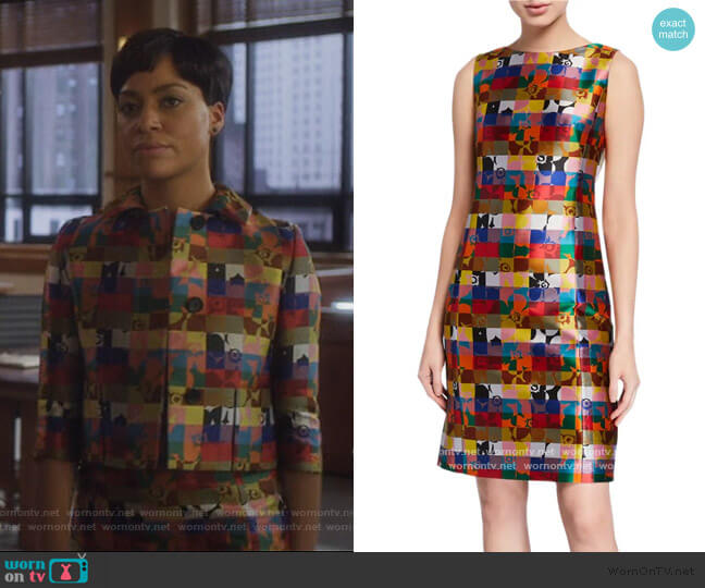 Floral Jacquard Sleeveless Dress by Akris Punto worn by Lucca Quinn (Cush Jumbo) on The Good Fight