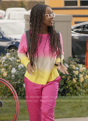 Diane's neon ombre sweater on Black-ish