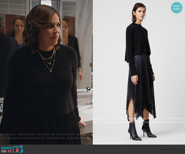 Lerin Knit 2 in 1 Dress by All Saints worn by Sara Castillo (Lindsay Mendez) on All Rise