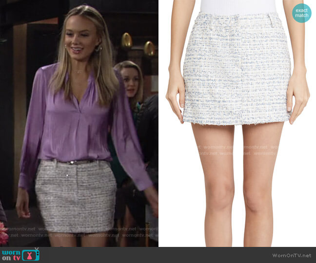 Brooklyn Skirt by Amanda Uprichard worn by Abby Newman (Melissa Ordway) on The Young & the Restless