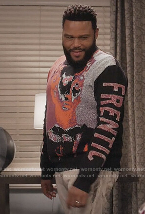 Andre's black Frentic sweater on Black-ish