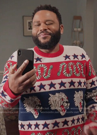 Andre's panther print sweater on Black-ish