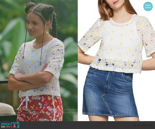 Daisy Lace Cropped Top by BCBGeneration