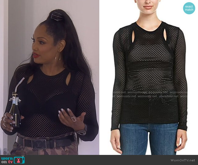 Mercy Top by Bcbgmaxazria worn by Garcelle Beauvais  on The Real Housewives of Beverly Hills