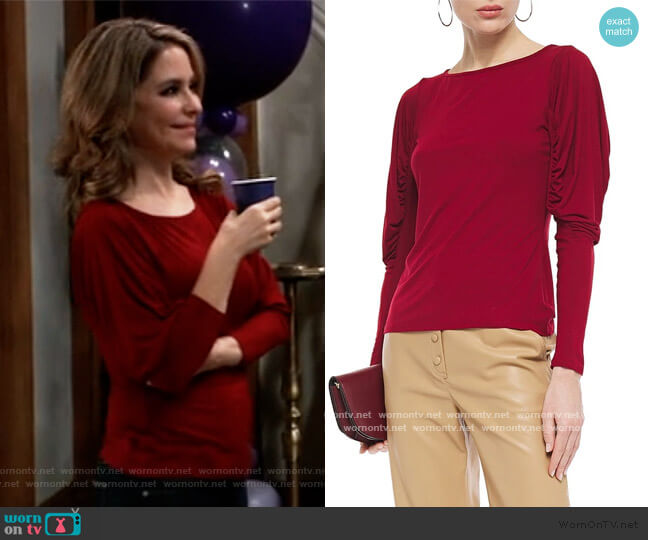 Olivia ruched stretch-jersey top by Bailey 44 worn by Olivia Falconeri (Lisa Lo Cicero) on General Hospital