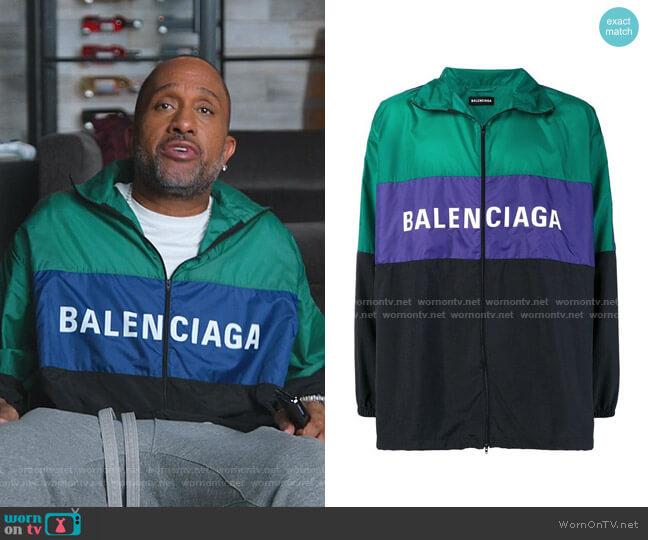 Nylon Tracksuit Jacket by Balenciaga worn by Kenya Barris  on BlackAF