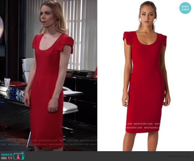 Amelie Sheath Dress by Black Halo worn by Nelle Benson (Chloe Lanier) on General Hospital